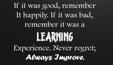 Never Regret Always Improve