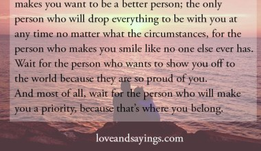 The person who wants you