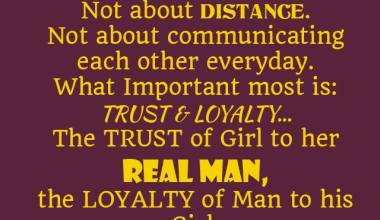 Loyalty Of Man To his Girl