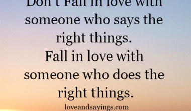 Who Does The Right Things