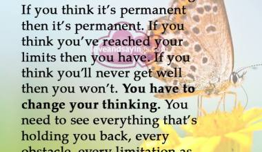 You Have Change your thinking