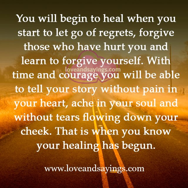 Who Have Hurt You And Learn To Forgive Yourself