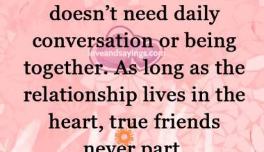 The Relationship lives in the heart