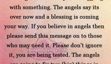 A blessing is coming your way