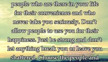 Choose the people and the path you need that will lead you