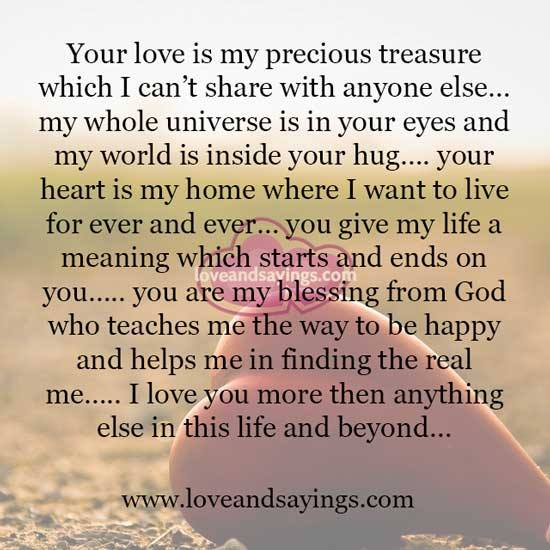 More Than I Love You Quotes For Him: I Love You More Than Anything Else In This Life And Beyond