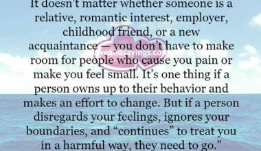 About removing toxic people from your life