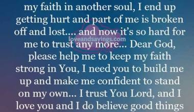 I Put my faith in another soul