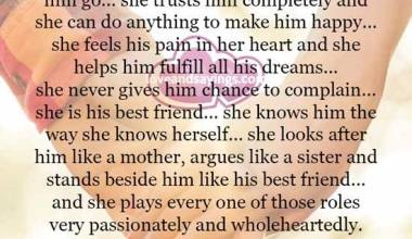 When a woman loves a man truly she never give up on him