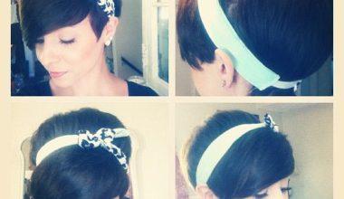 Pixie and a headband Haircut