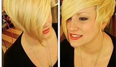 Asymmetric Blonde Short Haircut