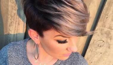 Cute, Short Haircut with Side Bangs