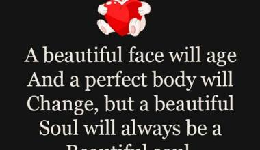 A beautiful face will age
