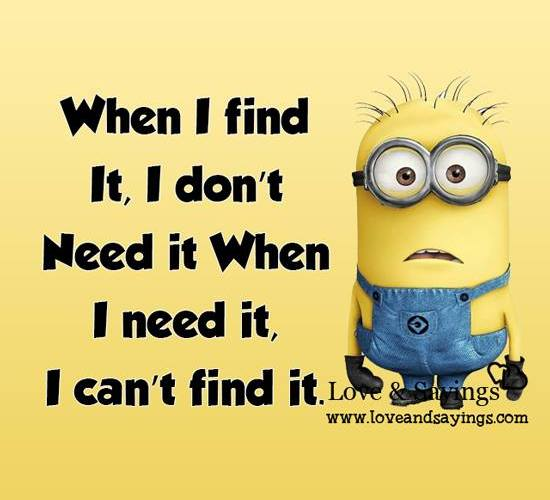 I can't find it