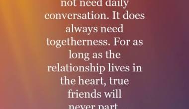 True Friends will never part
