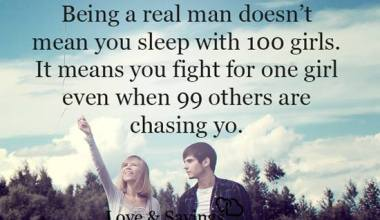 It means you fight for one girl