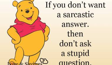 Don't ask a stupid question