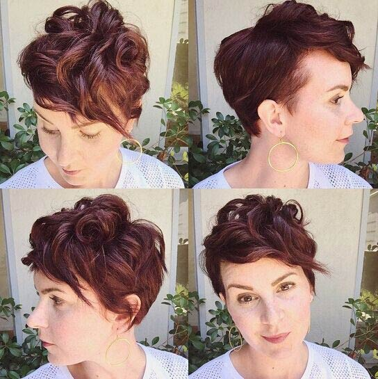 Messy Short Curly Hair Styles