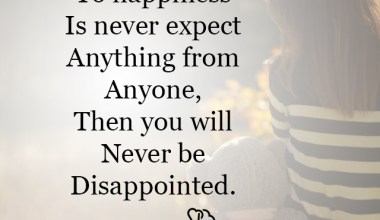 Never be Disappointed