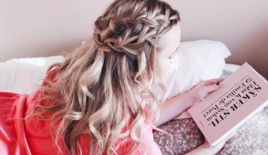 Wrap Around Braid and Loose Curls