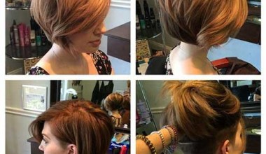 Inverted short bob hairstyle