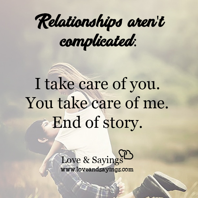 Relationships aren't complicated