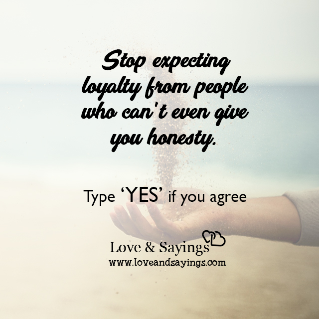 Stop expecting loyalty from