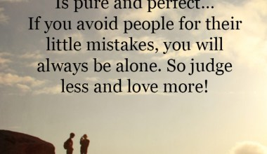 Judge less and love more