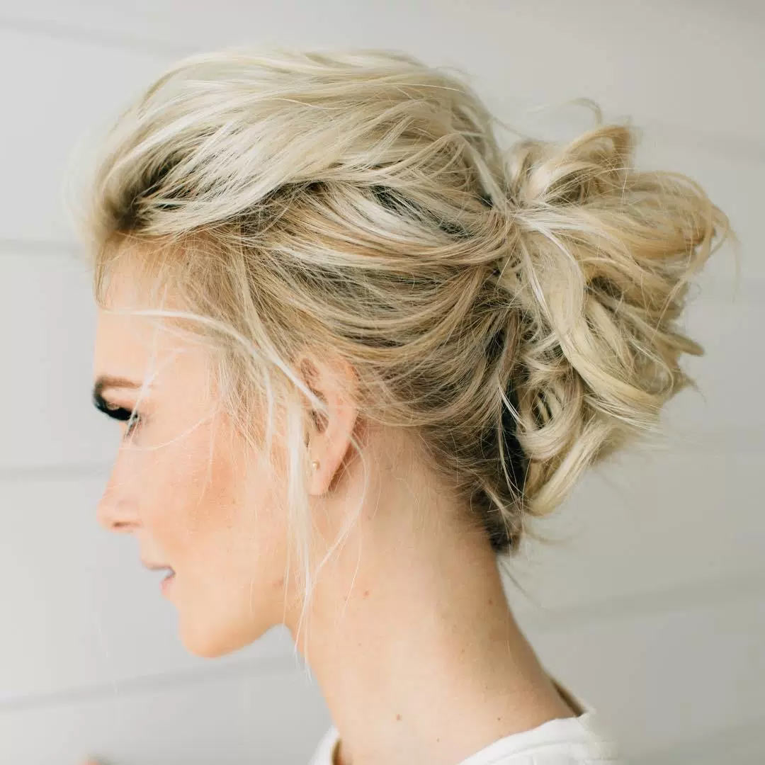 Messy Updo for Medium Cut