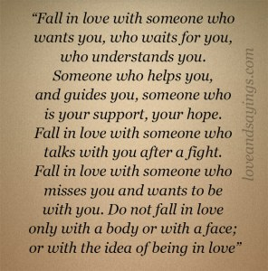 Fall in love with someone who understands you