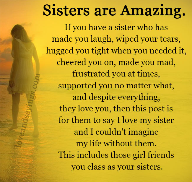 If you have a sister who has made you laugh