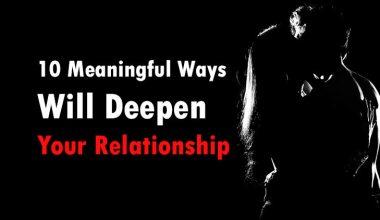 relationship will deepen