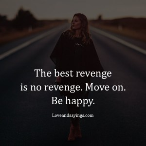 The best revenge is