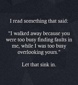 I read something that said