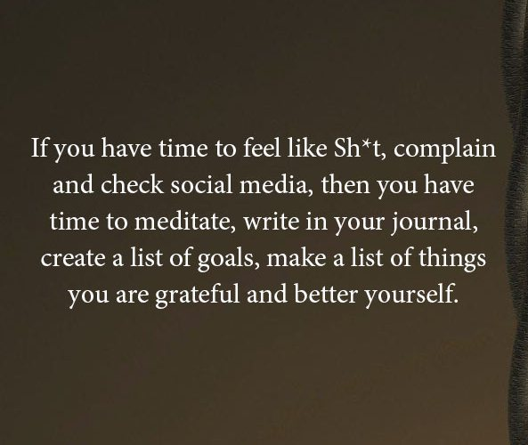 You are grateful and better yourself