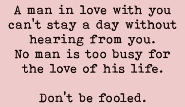 No man is too busy for the love
