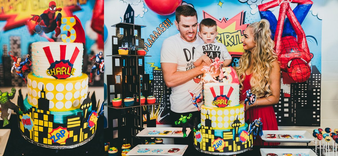 Atlanta Event Photographers | Charlie Freeman 1st Birthday Party | Marvel Superhero Theme
