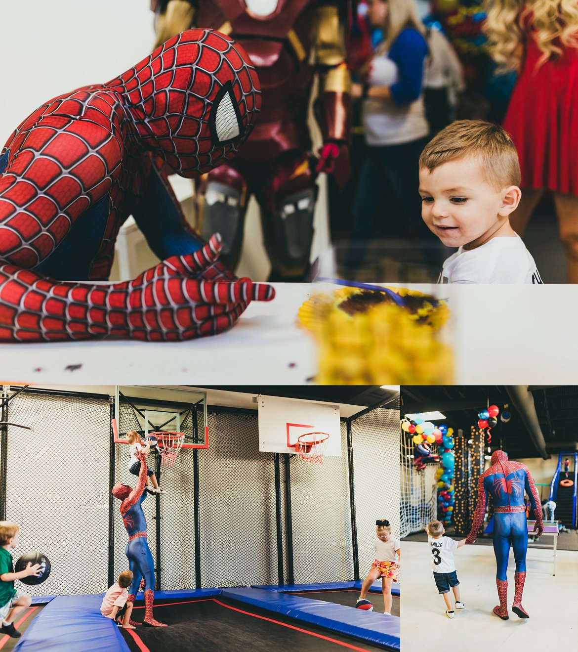 Atlanta Event Photographers 3 Birthday Party Spiderman Marvel Theme