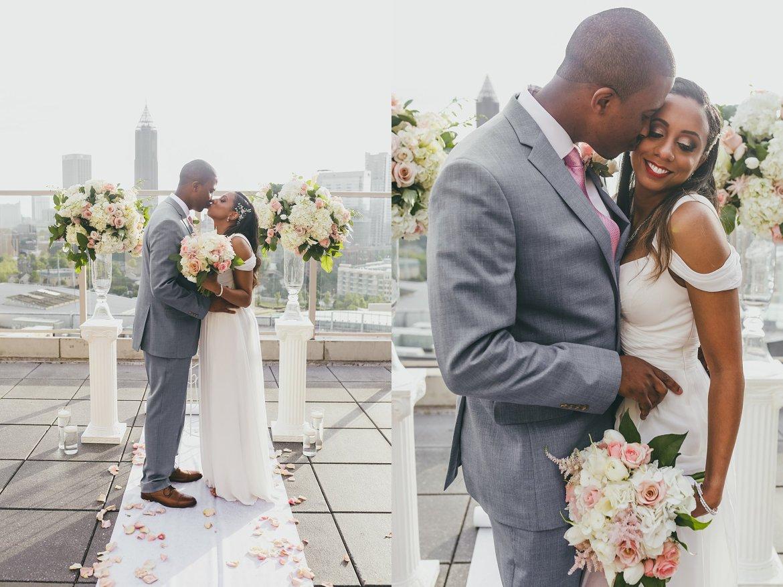 Ventana's Rooftop Atlanta Wedding Elopment Atlanta Wedding Photographers
