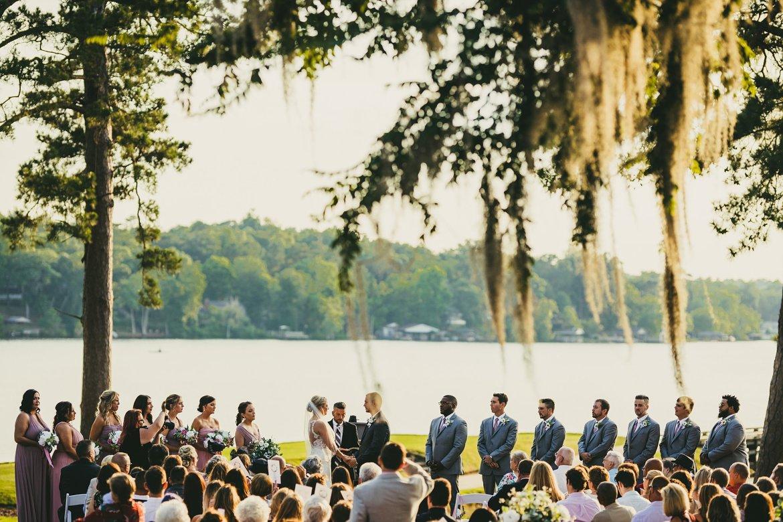 Houston Country Club Wedding Atlanta Wedding Photographers Ceremony by the Lake