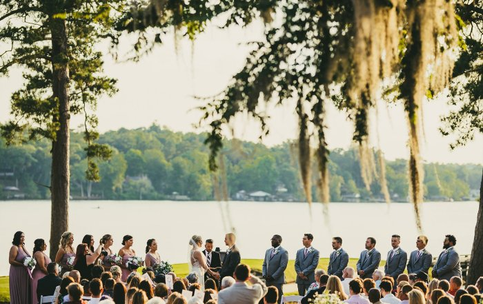 Houston Country Club Wedding Atlanta Wedding Photographers Ceremony by the Lake