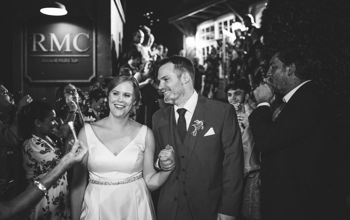 Roswell Mill Club Wedding Bubble Exit Atlanta Wedding Photographers