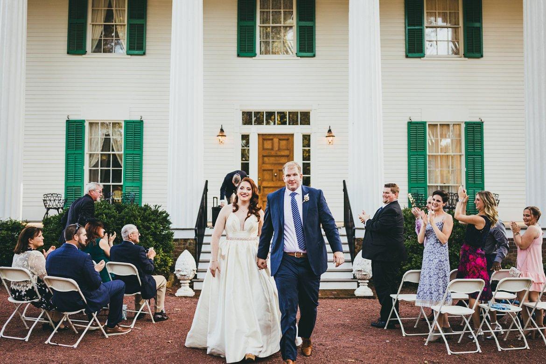intimate wedding, micro ceremony, tiny wedding atlanta wedding photographers Barrington hall Roswell