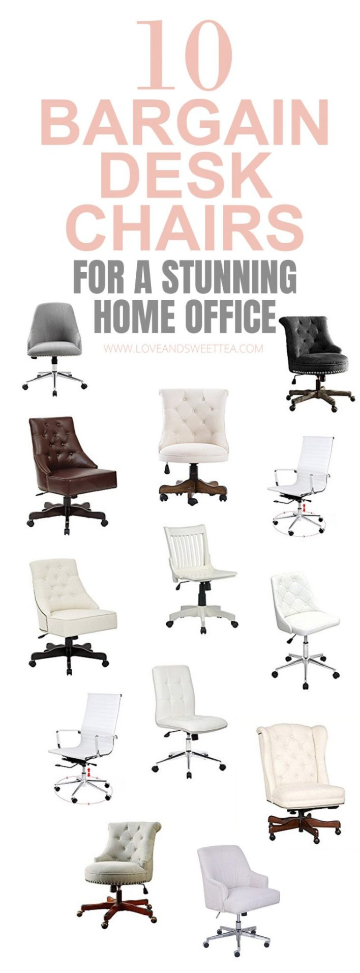 I love all these desk chairs, plus they're all really cheap desk chairs! Perfect for updating my home office! Saving for later!