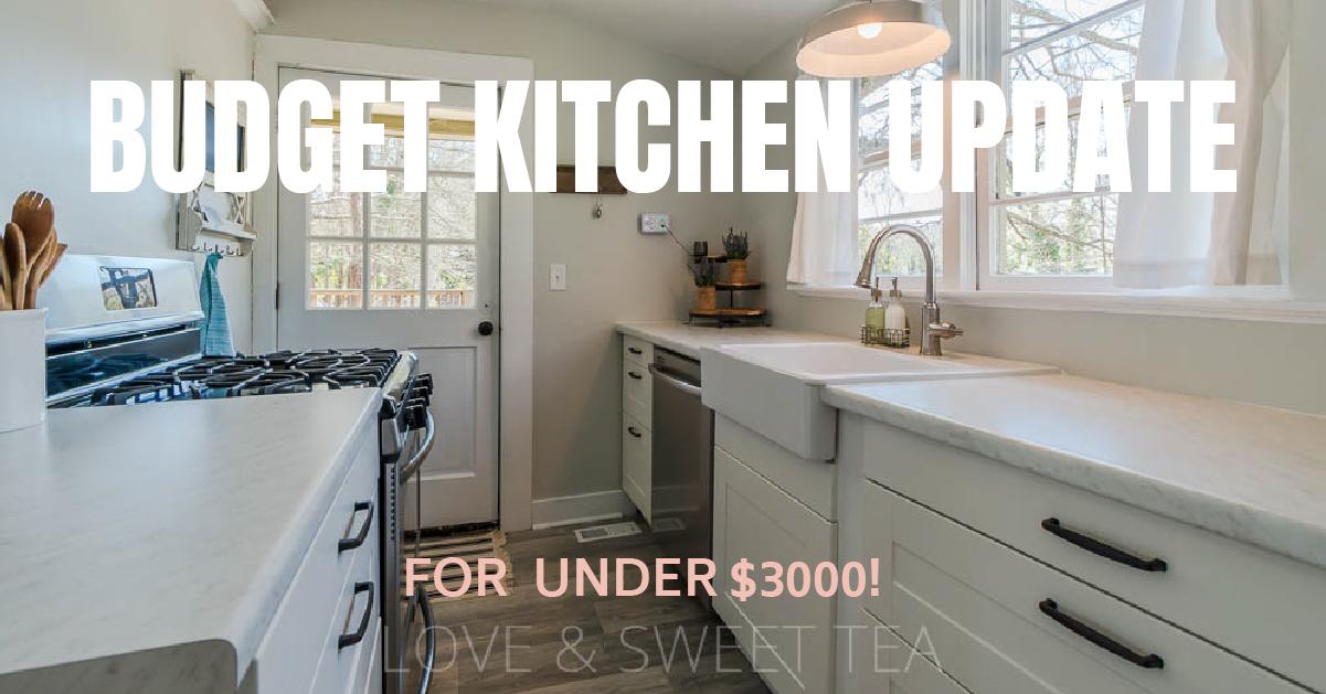 Budget Farmhouse Kitchen Remodeling Ideas Love Sweet Tea