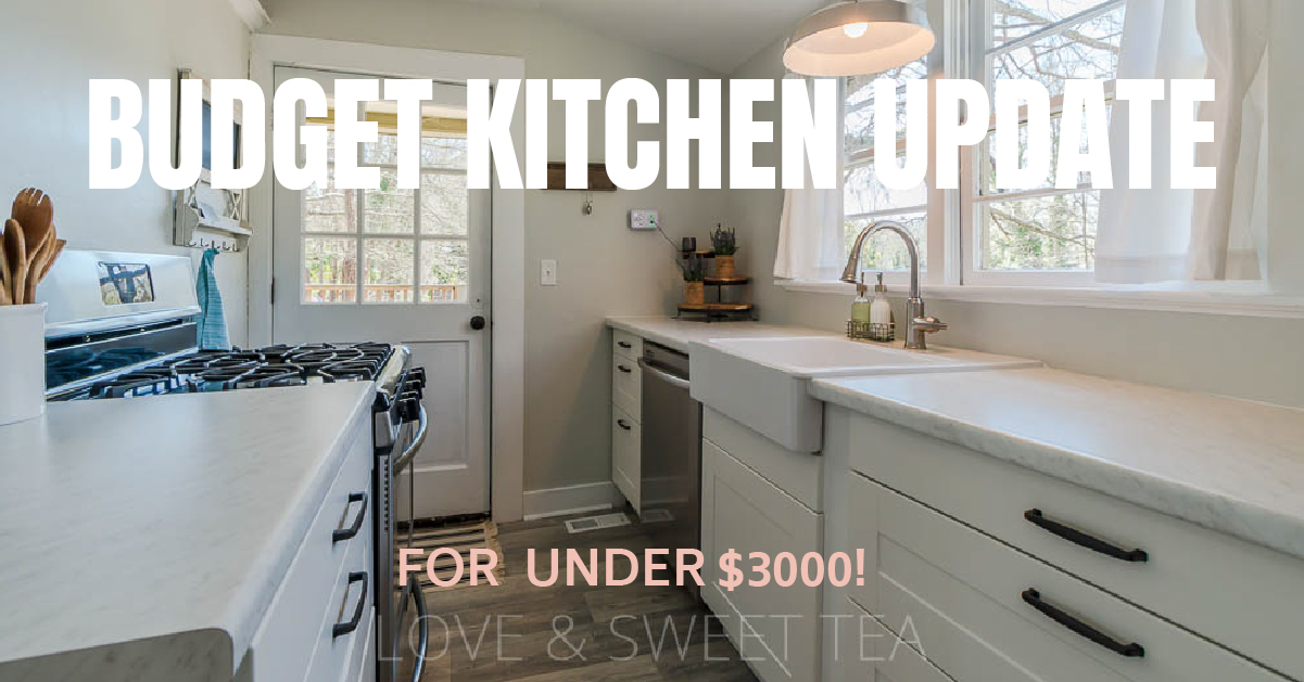 Budget Farmhouse Kitchen Remodeling Ideas Love Sweet Tea