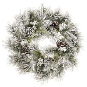 Snow Pine Wreath