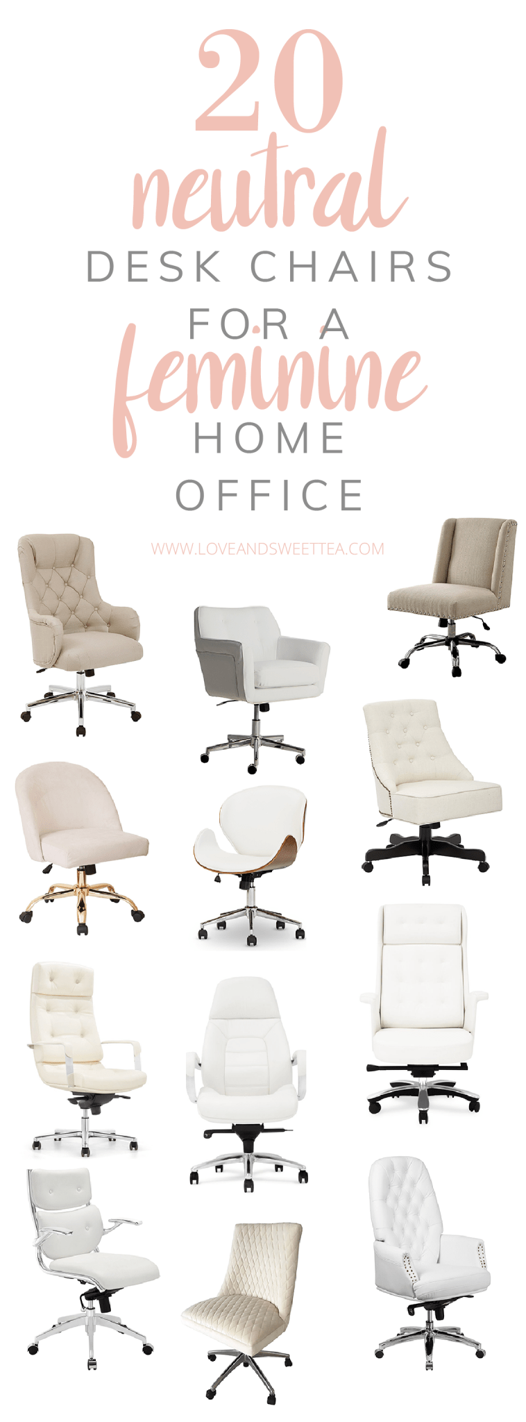 Finding cheap comfy desk chairs can be a serious challenge if you're going for beautiful home decor.So, I'm here to the rescue today to show you some options for comfy desk chair ideas that will look great in any space, even bedrooms or living rooms. Most of these comfy desk chairs are under $200, because let's get real, you're probably going to need another one soon if you are a work at home mom or have a busy office space in your house.