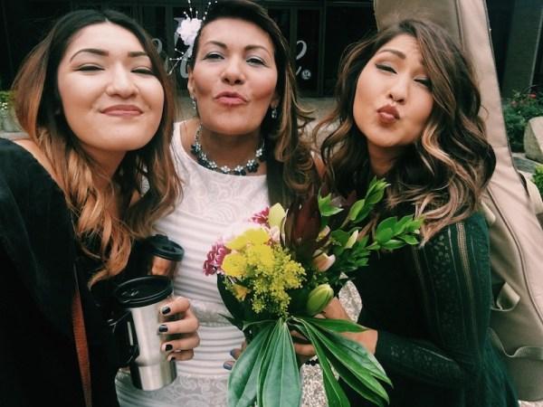 Post Wedding Selfie Kissy Face