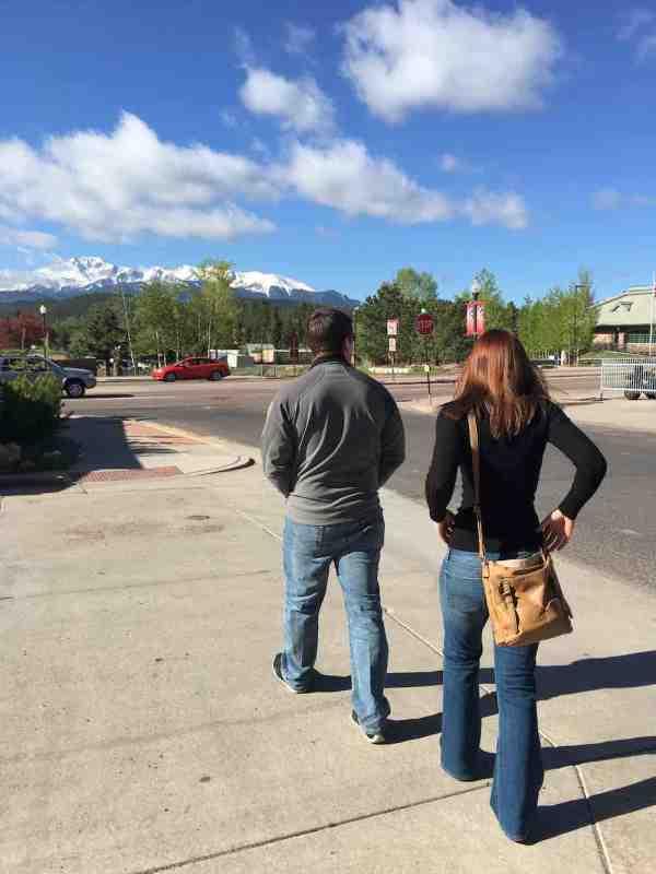 Mark And Angela Walking In Colorado